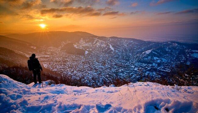 Schneeschuhwandern in Siebenbürgen