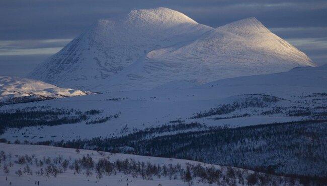 Silvester in den Bergen Norwegens