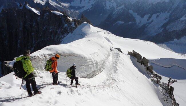 Mont Blanc - am Seil unseres Bergführers zum höchsten Berg der Alpen