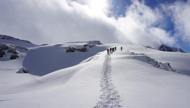 Silvester auf der Erfurter Hütte - Schneeschuhwandern im Rofangebirge