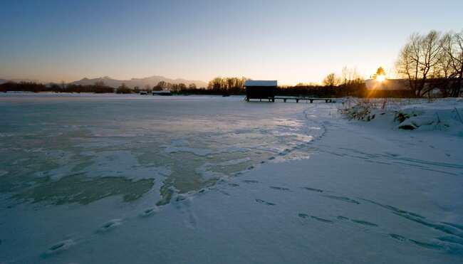 Silvester am Chiemsee-Winterwandern auf den Spuren des Märchenkönigs