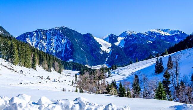 Silvester in den Bayerischen Alpen zwischen Schliersee und Spitzingsee