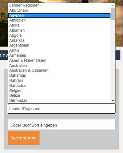 suchen nach länder