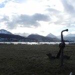 Ushuaia Anker im Hintergrund Hafen
