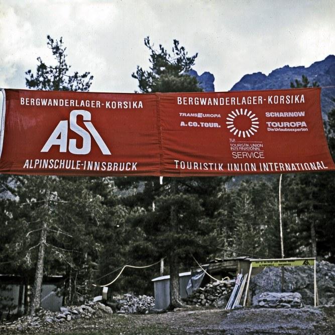 ASI Banner in Korsika