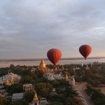 Ballonfahrt über Bagan, Myanmar