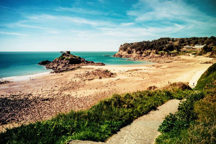 Herrliche Buchten in Jersey