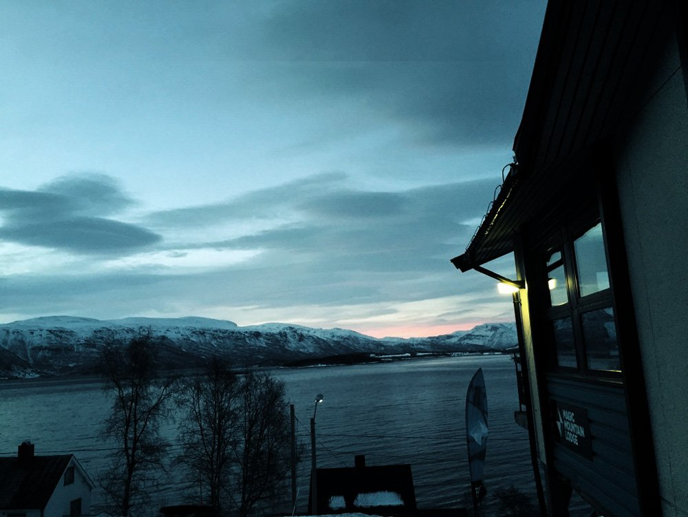 Die erste Morgenröte in Norwegen