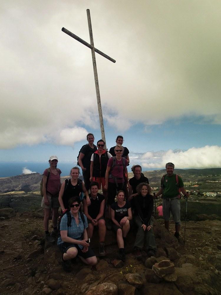 Am Gipfelkreuz der Fortaleza