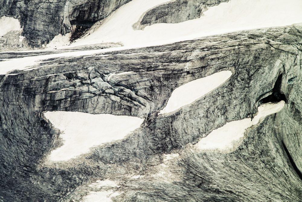 Der Gletscher an der Braunschweiger Hütte