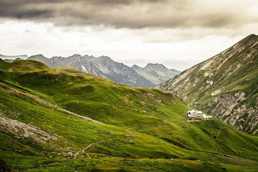 Kemptner Hütte auf der Alpenüberquerung
