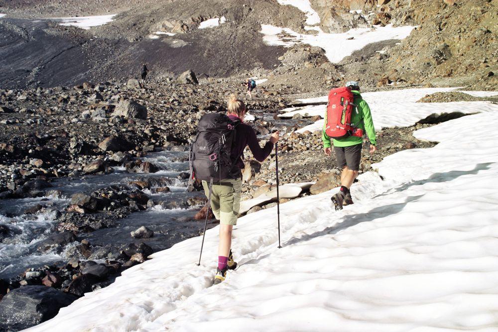 Schneefelder am Gletscher