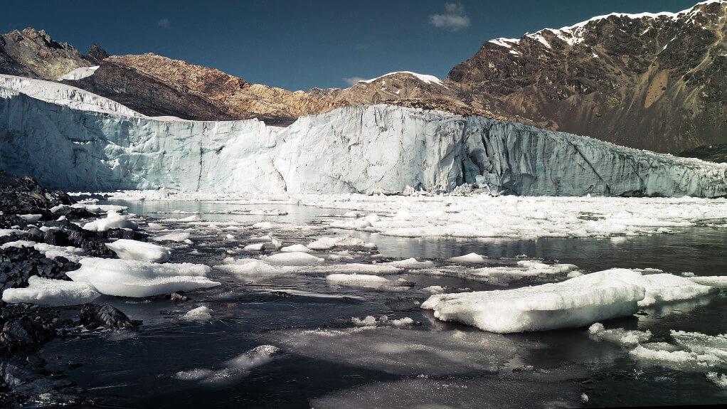 Der Pastoruri Gletscher