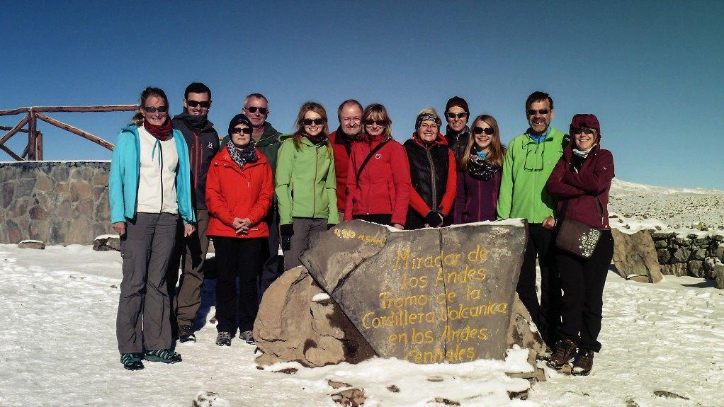 Die Gruppe am Patapampa Pass (4.910 m)