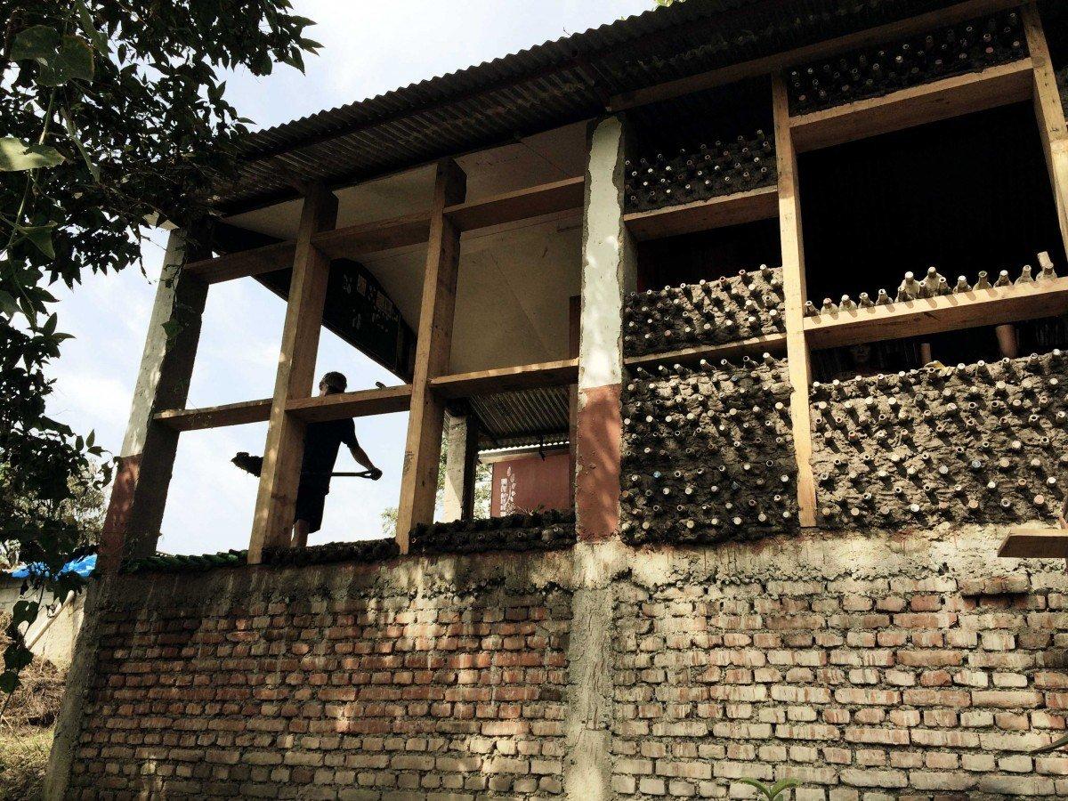 Bottlehouse in Nepal