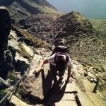 Ausgesetzte Passagen beim Wandern