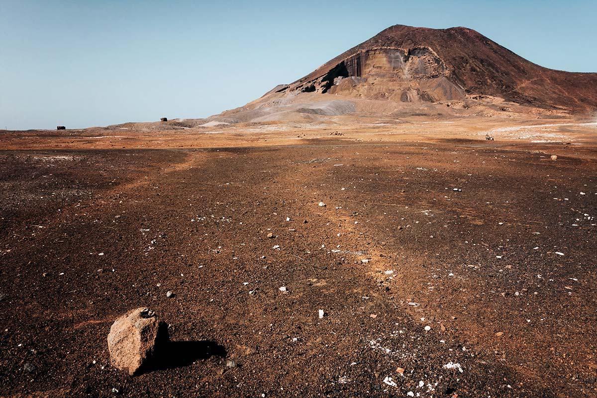 Der Calhau Krater auf den Kapverden