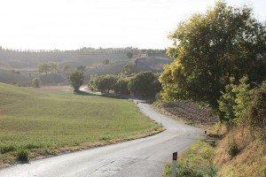 Hügelige Landschaft Toskana