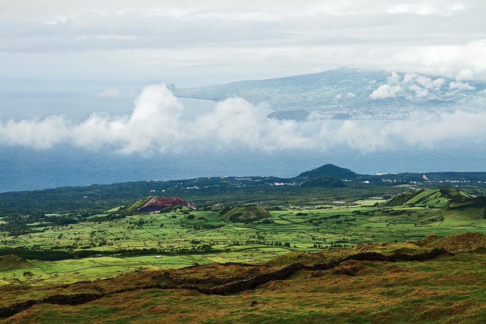 Die Aussicht vom Vulkan Pico