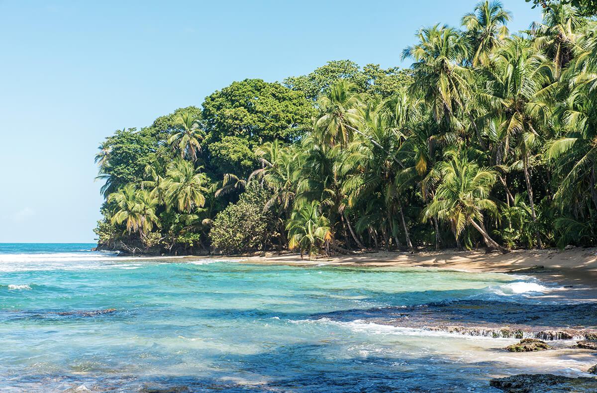 An der karibischen Küste sind die Strände traumhaft schön und das Wasser kristallklar.