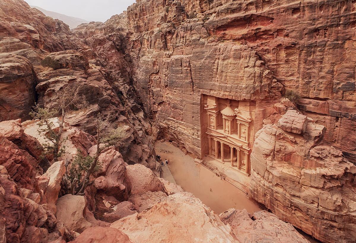 """Schatzhaus"" - Khazne al-Firaun in Petra, Jordanien"