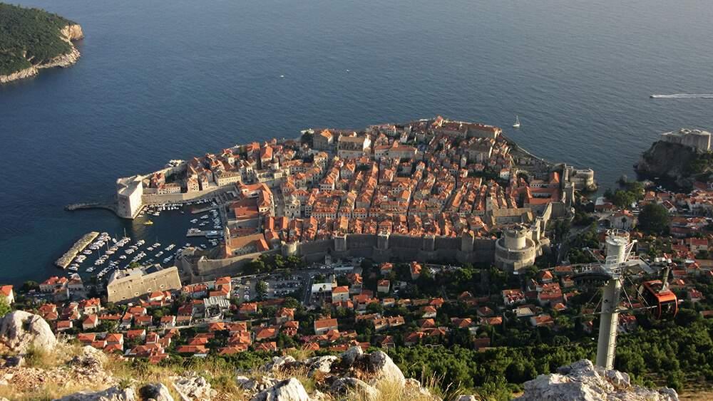 Sicht auf die Dubrovnik - UNESCO Weltkulturerbe