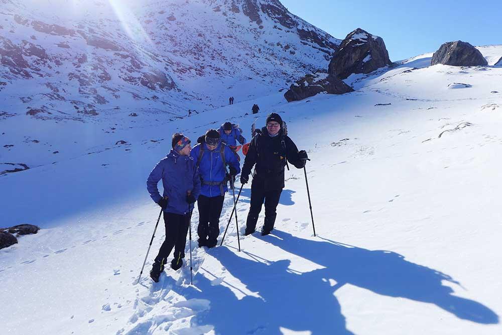 Geführte Schneeschuhreise Alpen
