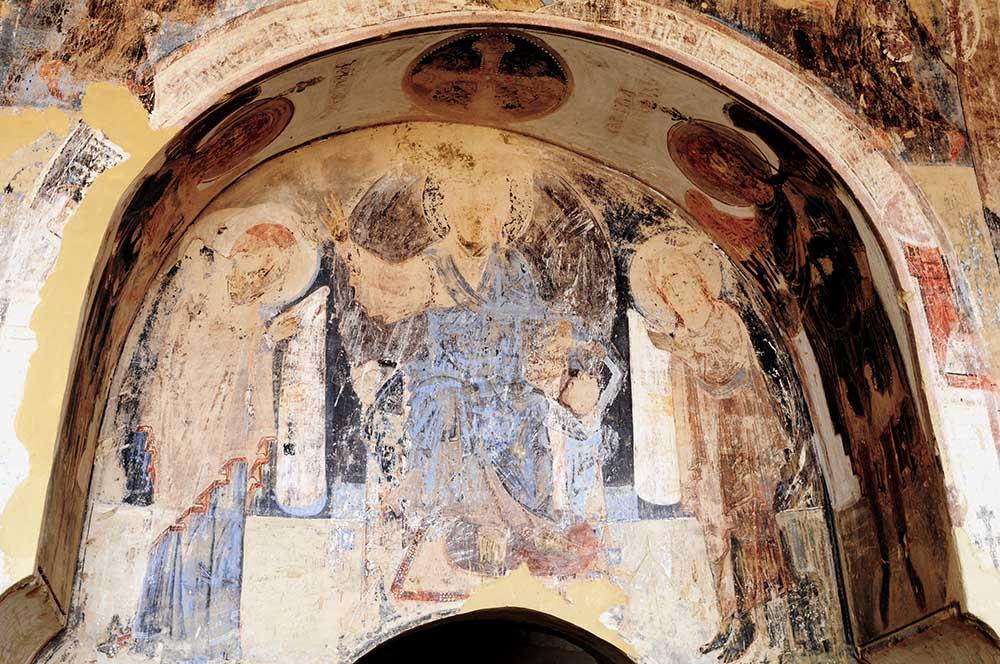 Fresken im Höhlenkloster David Garedscha