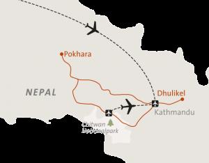Landkarte Nepal