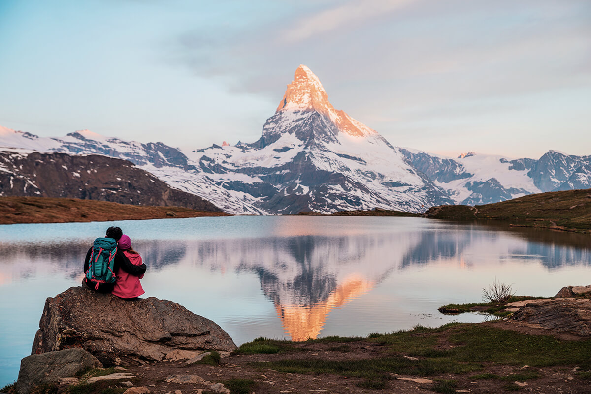 Matterhorn Alpenglühen