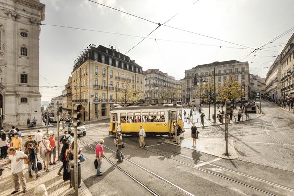 Das Hauptstadtviertel Chiado in Lissabon