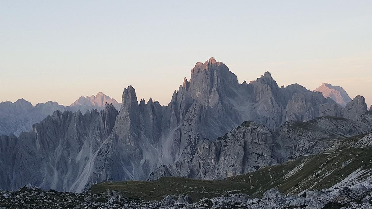 Alpenglühen Dolomiten