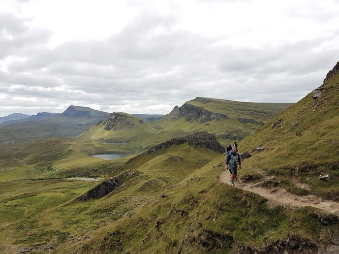 Wanderung entlang des Quiraing auf der Insel Skye