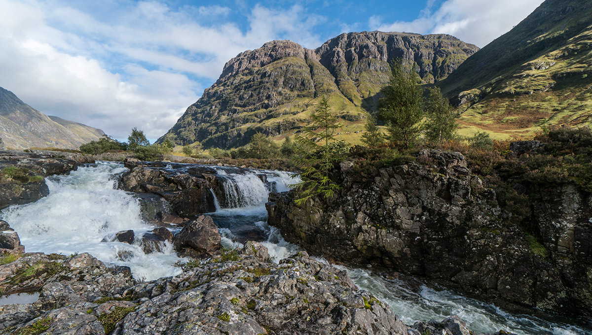 Wasserfall bei Glencoe