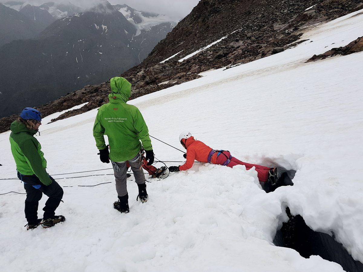 Gletscherspalten Übung