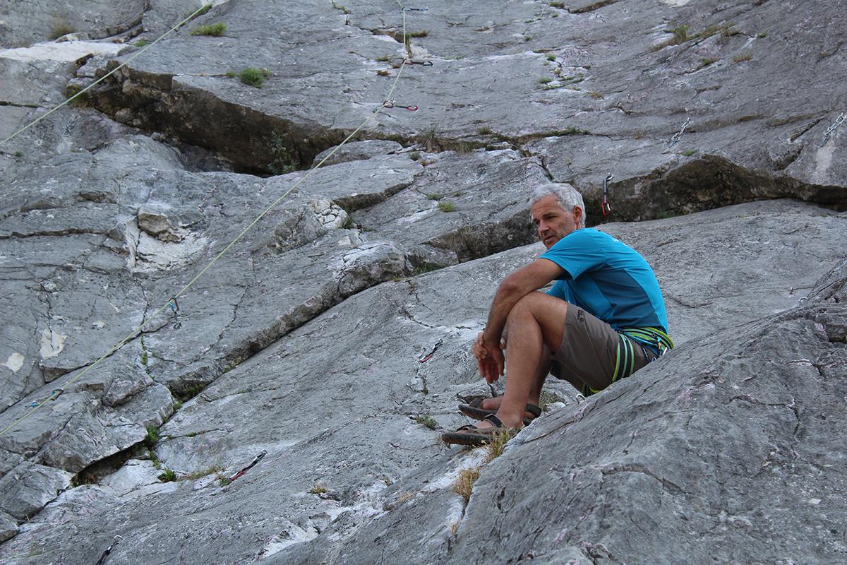 ASI Bergführer Florian Kluckner hat alles im Blick