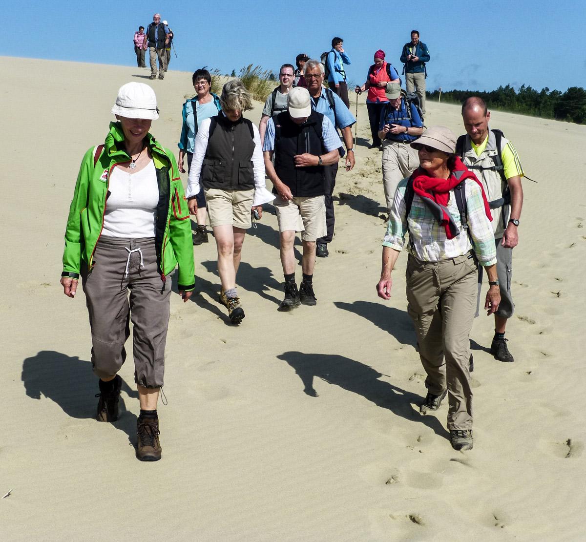 Wanderer auf Sand
