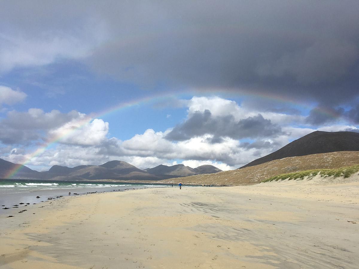 Regenbogen am Luskentyre Beach