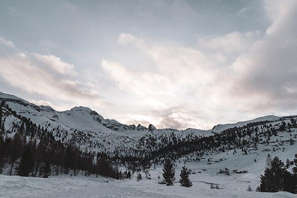 Abendhimmel, Faneshütte Dolomiten