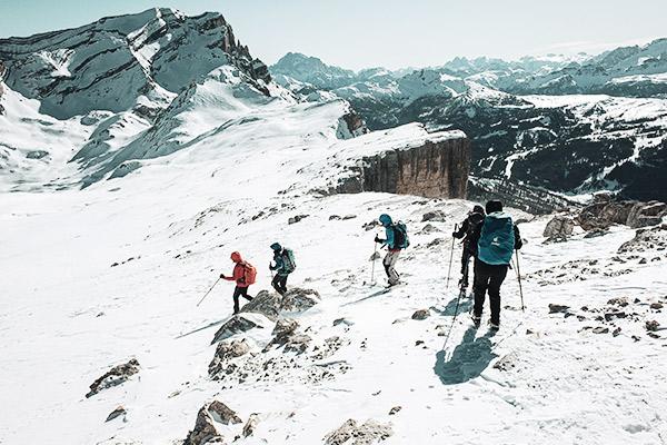 Abstieg vom Heiligkreuzkofel, Dolomiten
