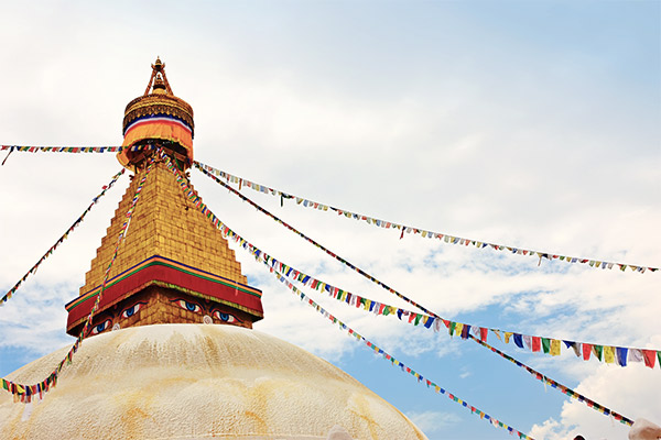 Affentempel in Kathmandu, Nepal