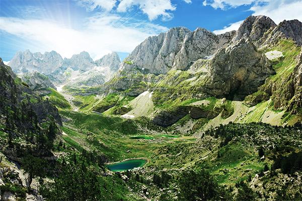 Albanische Alpen, Albanien