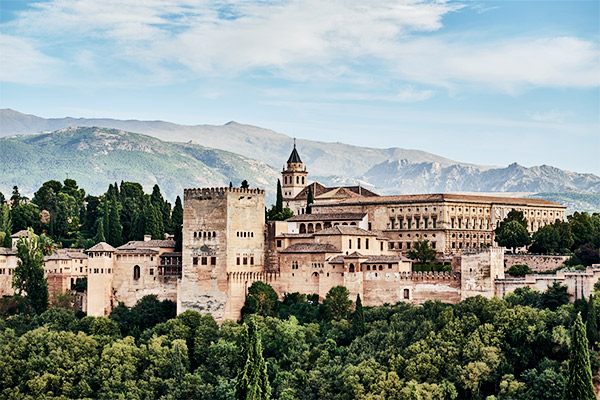 Alhambra in Granada, Andalusien