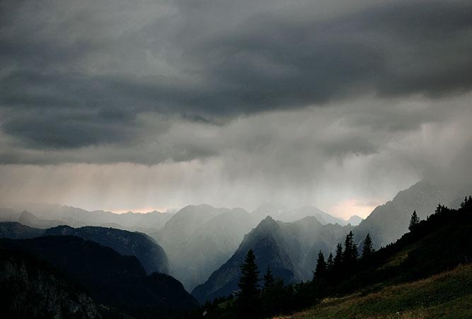 Regenwetter im Berchtesgaden Nationalpark