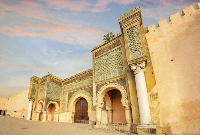 Alte Tor Bab El Mansour, Meknès, Marokko