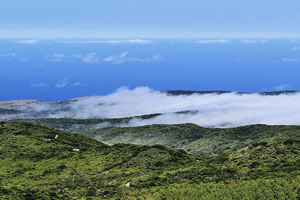 Ausblick vom Berg Alto de Garajonay, La Gomera