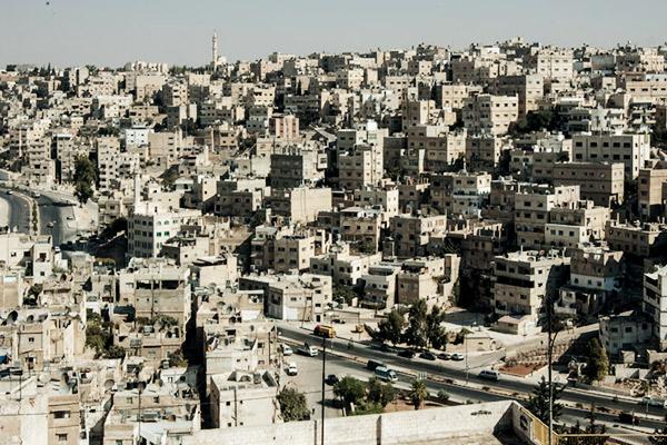 Blick auf Amman vom Zitadellenhuegel, Jordanien