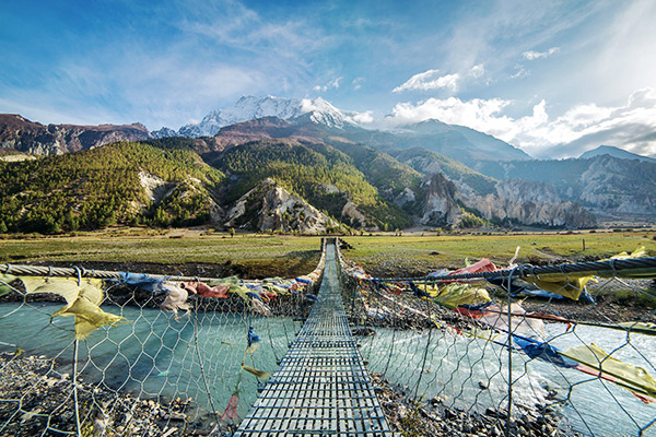 Hängebrücke Annapurna Region, Nepal