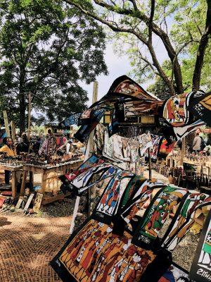 Bunte Bilder und Kunstwerke, Arts Center Südafrika