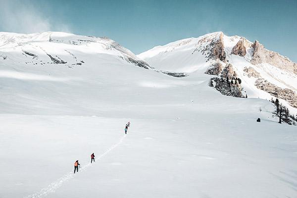 Schneeschuhwandern Fanes Hütte, Dolomiten